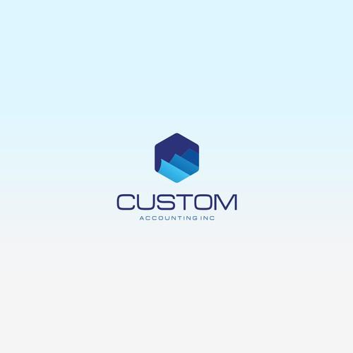 Concept logo for 'Custom Accounting Inc'