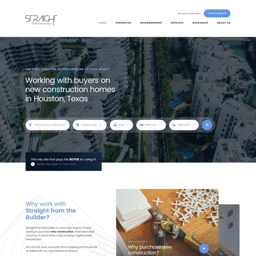 Realestate website concept