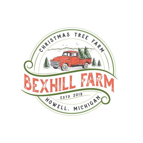 Logo for Christmas tree farm