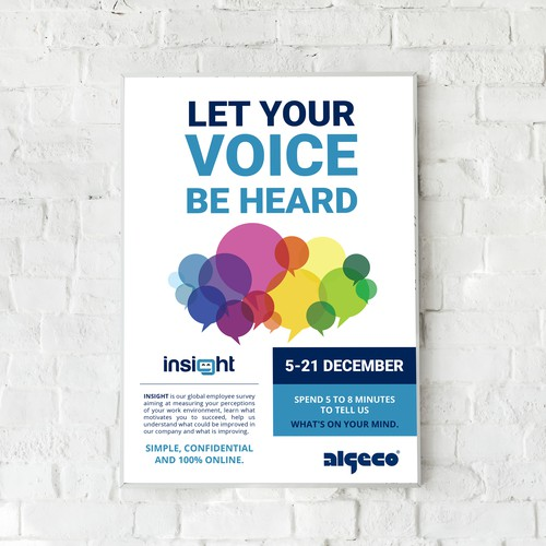 Poster design for Algeco's Internal Employee Survey, INSIGHT