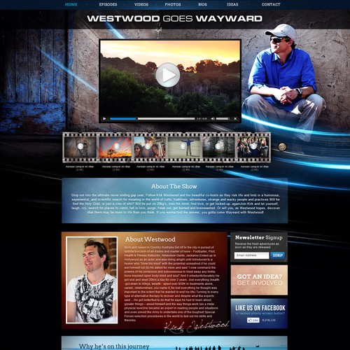 "A Network TV Series ""WESTWOOD GOES WAYWARD"" needs a new website design"