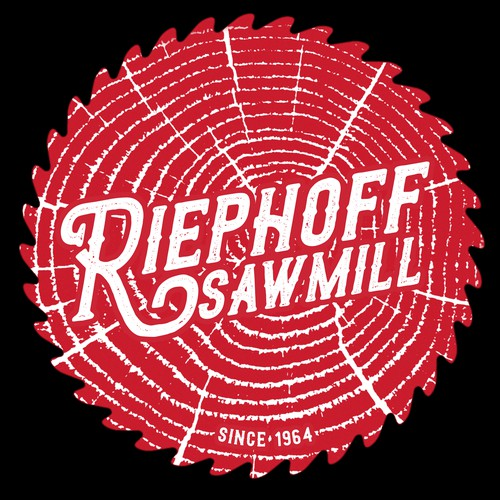Single color logo for Riephoff Sawmill.