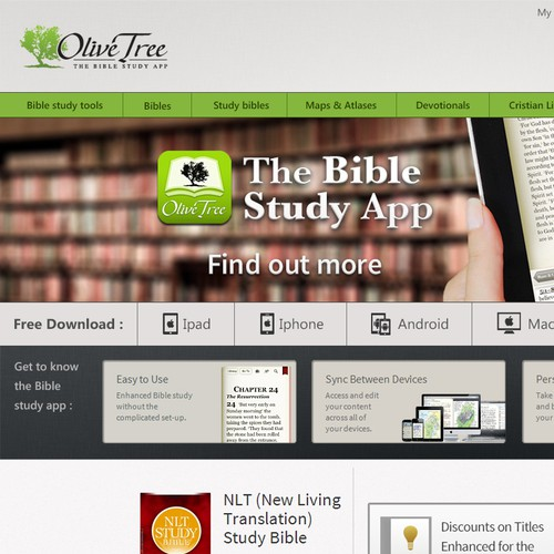Olive Tree Bible Software needs a new landing page