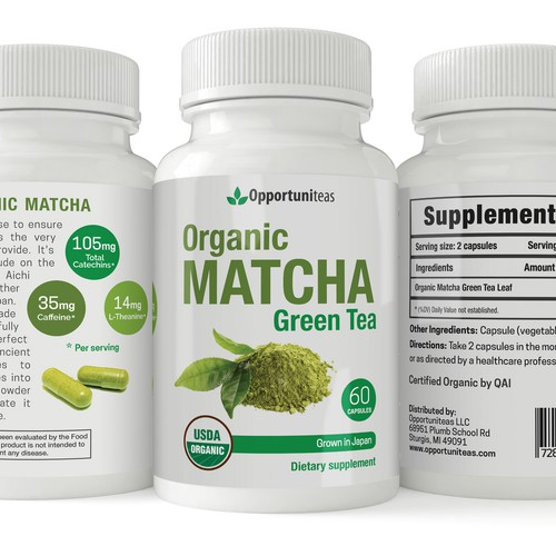 Label design for a dietary supplement