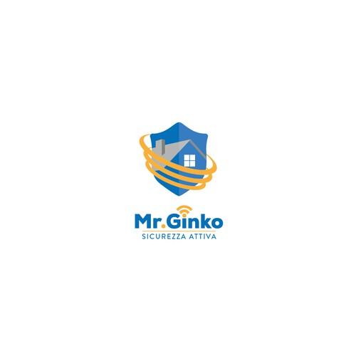 Logo per un sistema di sicurezza wireless integrato nella finestra
