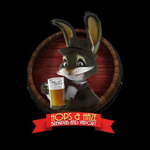 Cool and funny 3D Character with a beer