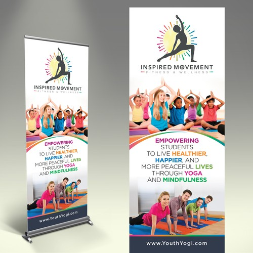 Inspiring and energetic trade show banner design needed for Inspired Movement.