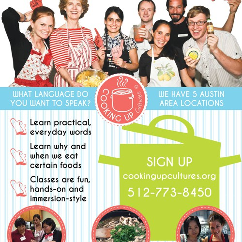 Cooking + Language Classes Contest for cool flier!