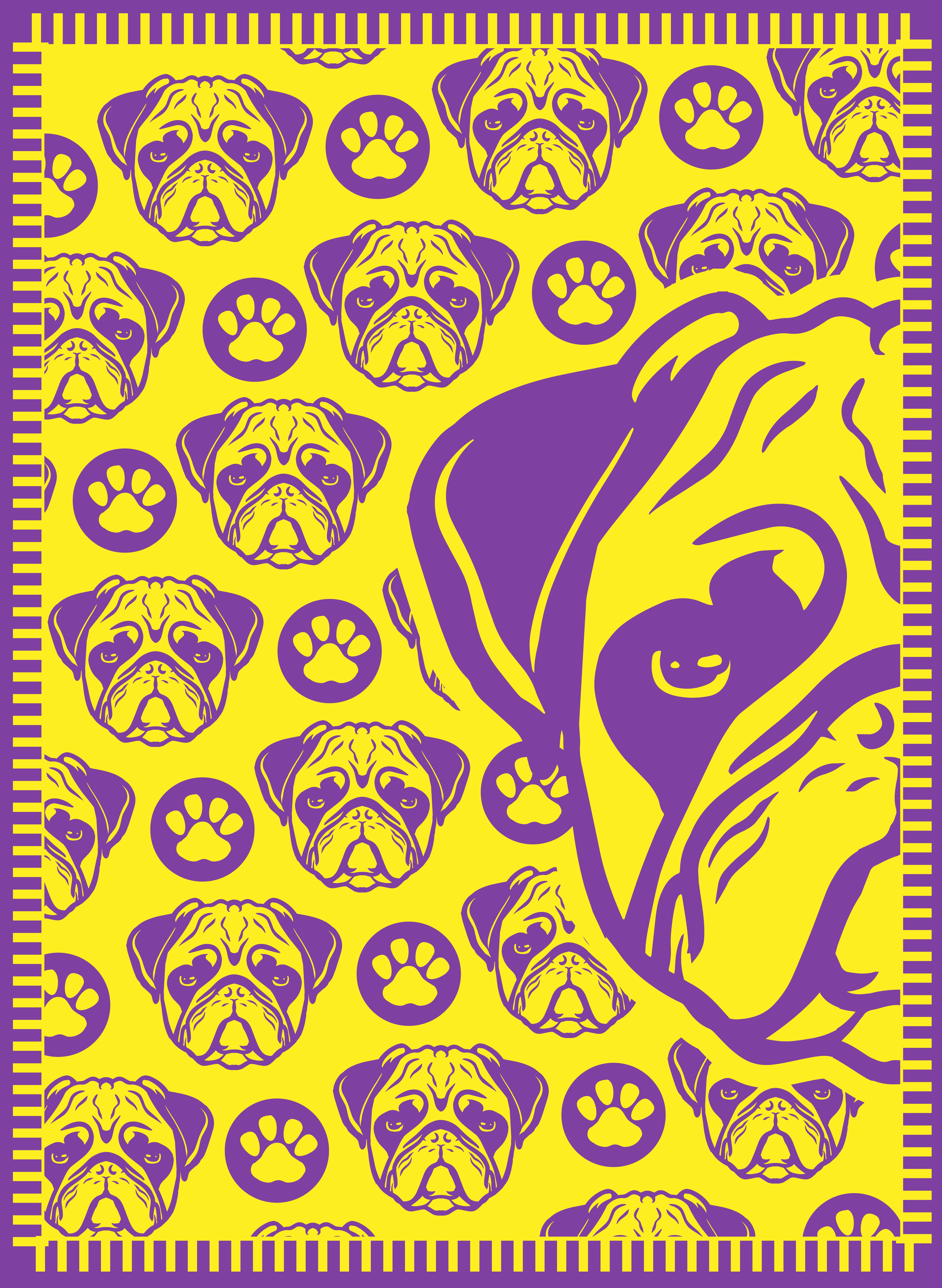 Design a cute PUG Dog outdoor mat from Recycled Mats
