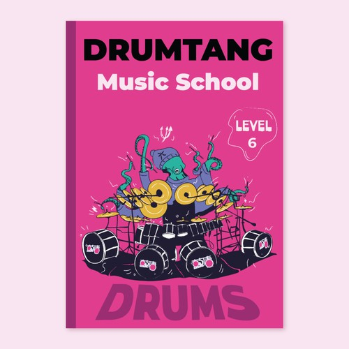 """Concept for an educational book about drums for """"DrumTang Music Sxhool"""""""