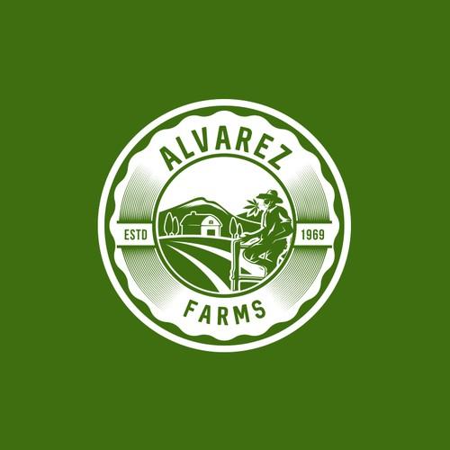 "Creative cannabis farm logo ""Alvarez Farms"""