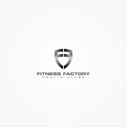 geometric logo concept for fitness factory