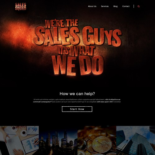 Web design for executive sales