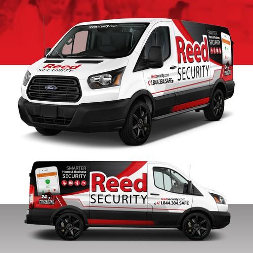 Security Company Transit Van Wrap