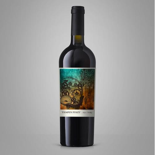 Tempus Fugit - Wine Label
