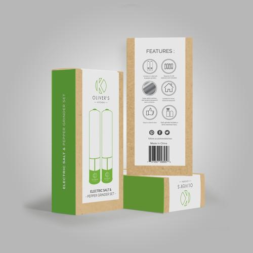 Oliver's Kitchen - Eletric salt & Pepper Grinder Set.