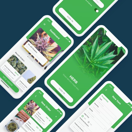 App design concept for Herb