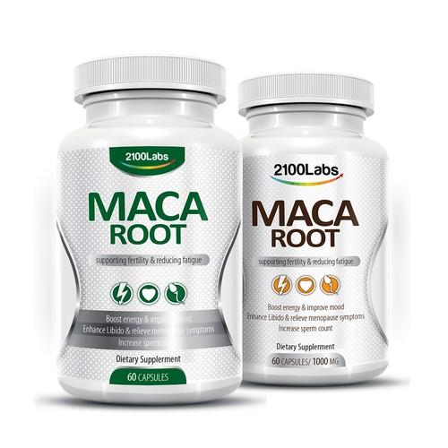 Maca Root Supplement package design