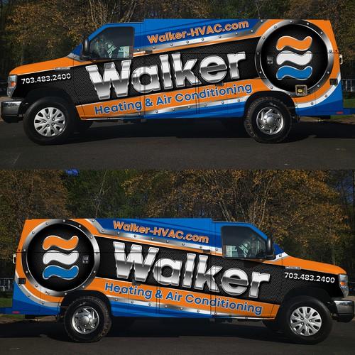 Walker HVAC car wrap design