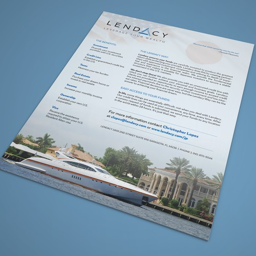Simple flyer design for Lendacy