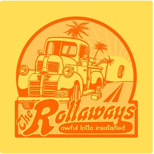 California Rock Band Illustration