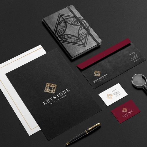 Luxurious High End Logo for Wood Work Business