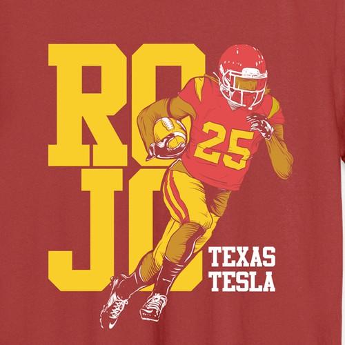 Football inspired tshirt design