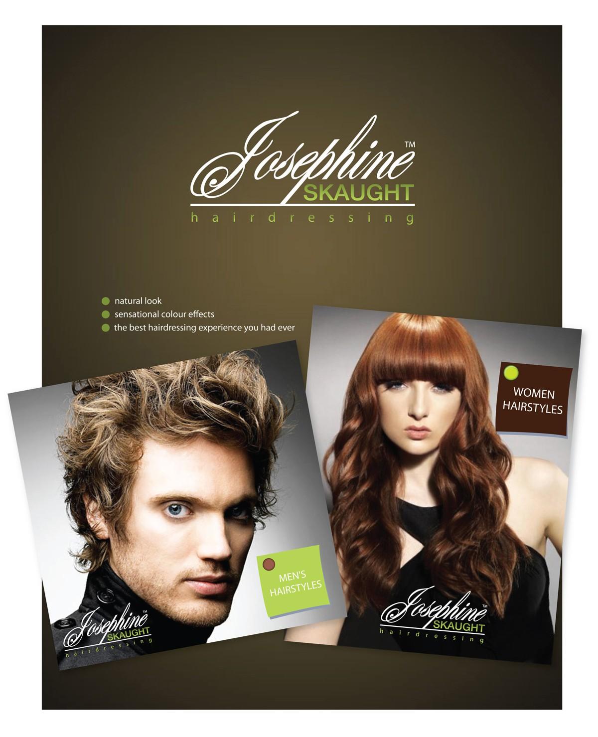Create the next logo for josephine skaught hairdressing