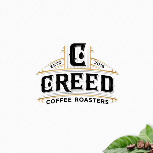 Vintage and industrial logo for coffee roasters
