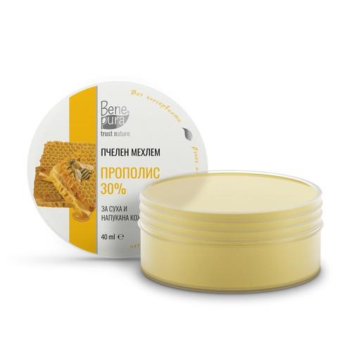 Propolis ointment label design