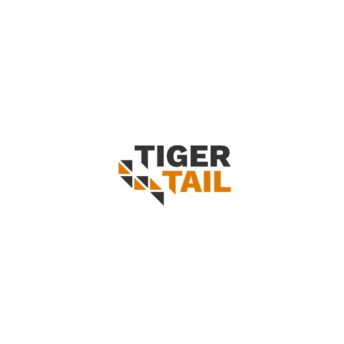 Minimalist Geometric Tiger Logo for a Technology Company