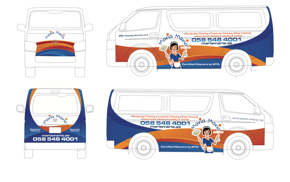 Van Branding For Maria Maria Cleaning Services