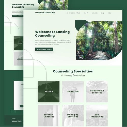 Lansing Counseling - UI Design