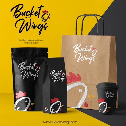 Bucket O Wings logo concept