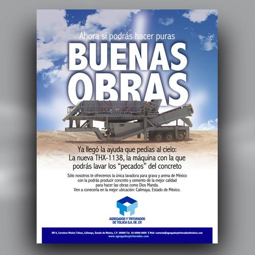 New postcard or flyer wanted for Agregados y Triturados de Toluca SA de CV