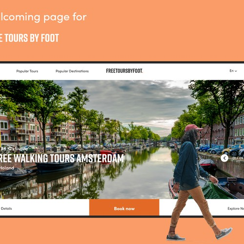 landing page for tour guide