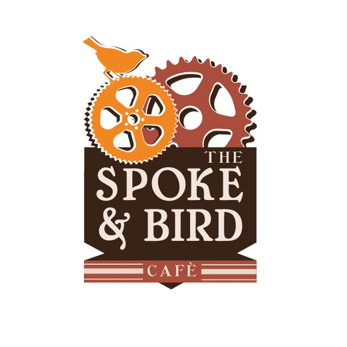"Design the logo for ""The Spoke & Bird"" cafe"