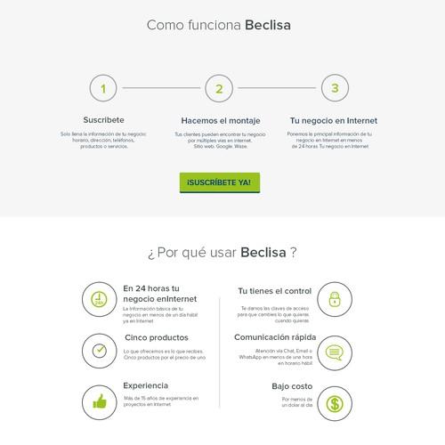 Diseño nuevo sitio en Internet