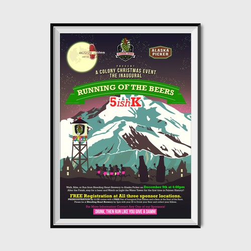 Running of the Beers Poster Design