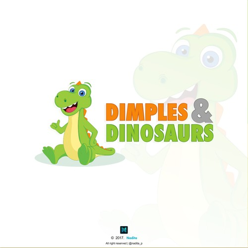 Logo for Dimples and Dinosaurs