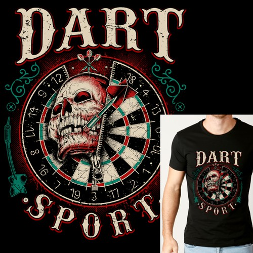 T-Shirt Design Dart Sport
