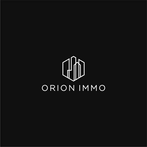 Geometrical logo design for ORION IMMO