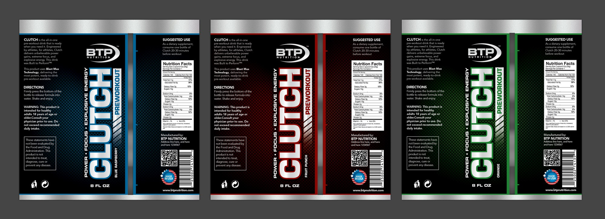 Help BTP Nutrition ™ with a new product label