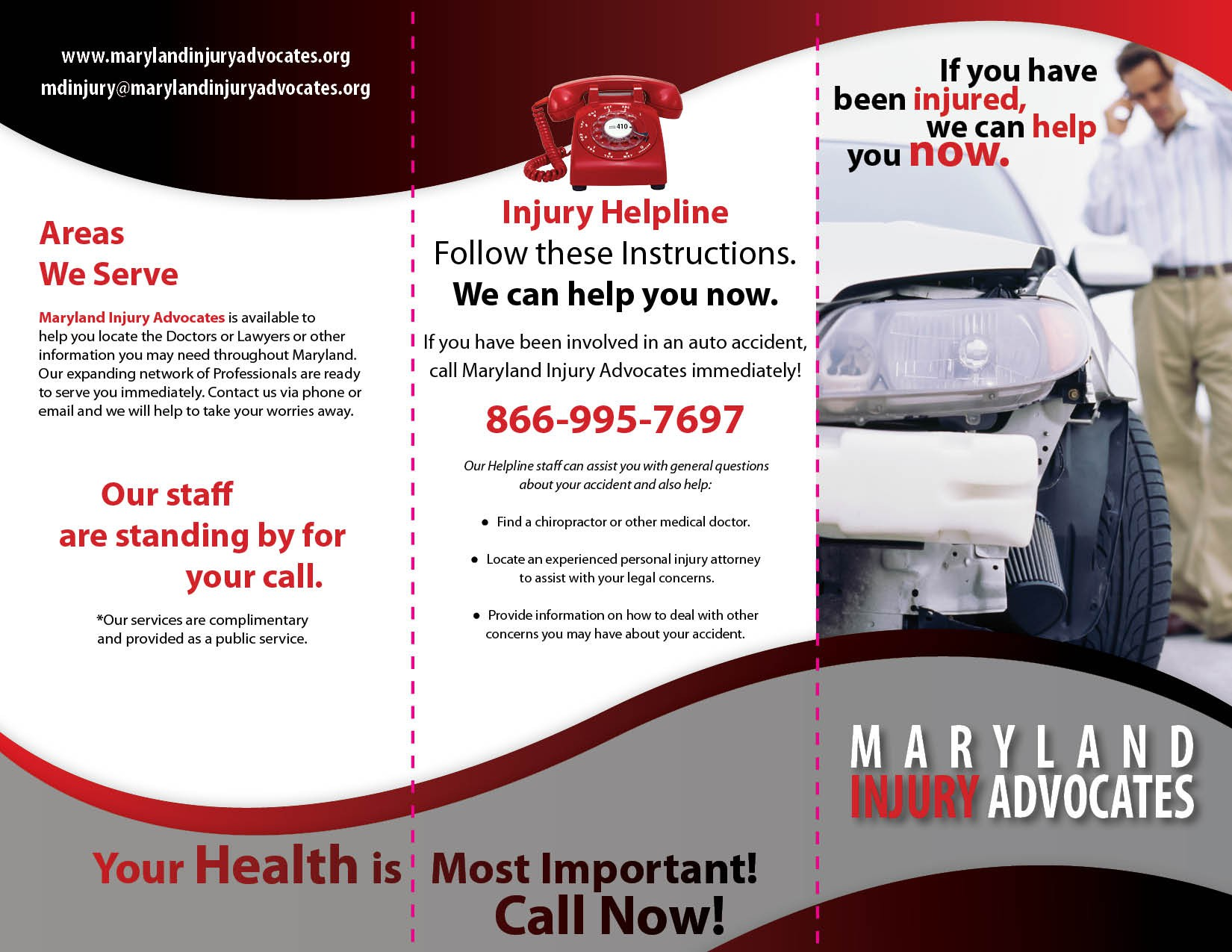 New Brochure design for Maryland Injury Advocates