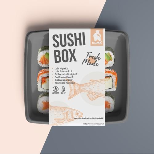 Modern Sushi Box Packaging
