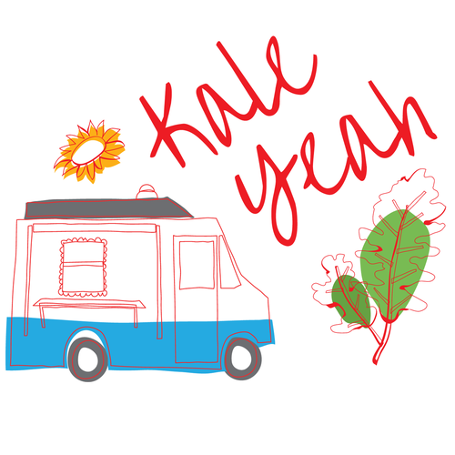 "Fun Style ""Kale Yeah"" Apron for Organic Food Truck"