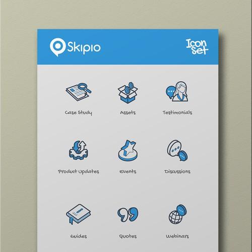 """Icon Design Concept for a tech company """"Skipio"""""""