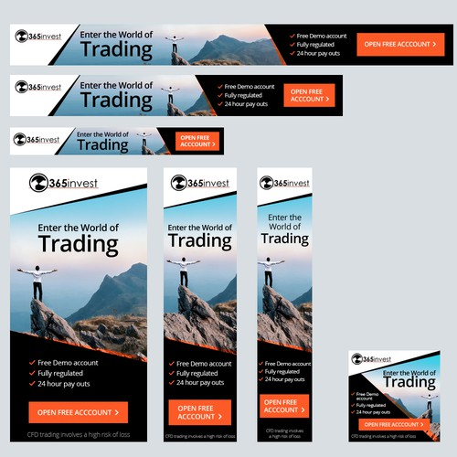 Banner Set for Forex Trading Company