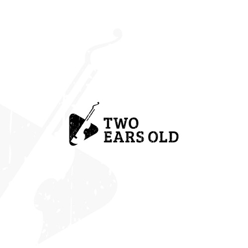 Minimalist retro logo for a music studio
