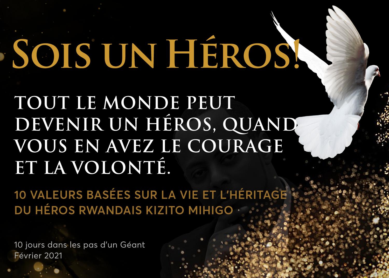 Be a Hero! Uzabe intwali! Commemorative postcards for Kizito Mihigo